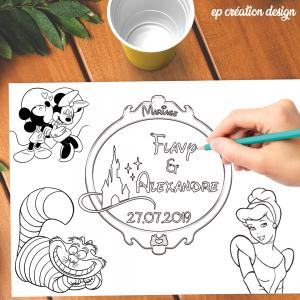 Set de table pour les enfants, sur le thème Disney