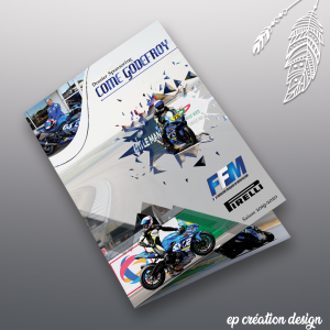 Livret sponsor d'un futur motard de circuit