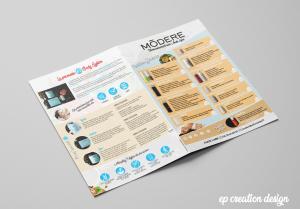 Livret de présentation des produits modere proposés par Aude - Verso