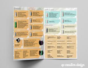 Livret de présentation des produits modere proposés par Aude - Recto
