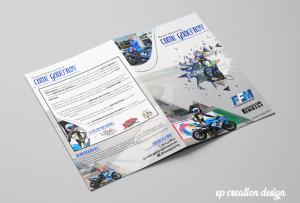 Livret créé pour un futur motard qui cherche de nouveaux sponsors - verso