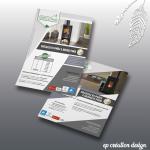 Flyers design pour proposer les offres poeles à bois et poeles à granulés de Renoccitanie