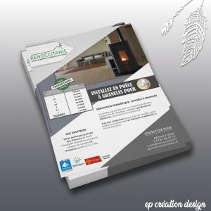 Tracts publicitaire pour professionnels au design moderne et attractif