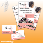 Identite visuelle pour Rev'elle You : logo, cartes de visite et flyers