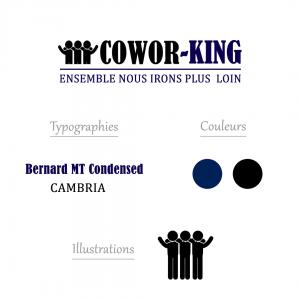 Charte graphique pour espace coworking