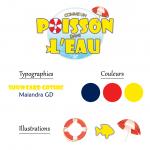 Charte graphique du logo comme un poisson dans l'eau