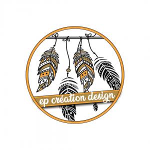 Logo ep création design, infographiste indépendante au service des professionnels et particuliers