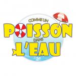 Logo pour club natation ou piscine avec un design ludique