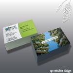Cartes de visite pour une entreprise de propreté basée à Toulouse