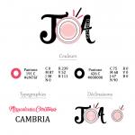 Charte graphique pour la création du logo de JoA d'images, photographe