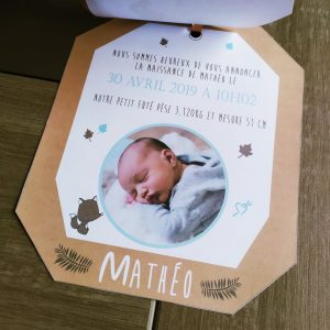 Courrier de naissance pour petit garçon