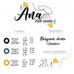 Charte graphique du logo Ana Fait Main