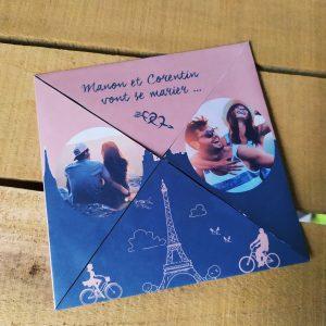 Invitation de mariage la romance de Paris