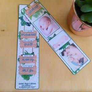Courrier de naissance sur le thème jungle tropical