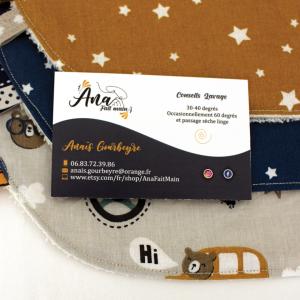 carte de visite pour une créatrice couture Ana Fait Main