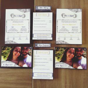 Invitation de mariage champêtre