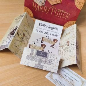 Faire part de mariage Harry Potter